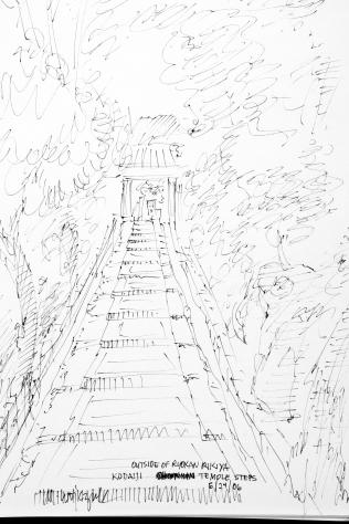35. Outside of Ryokan Rikiya Kodaiji Temple Steps 6-24-06