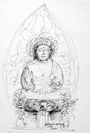 39. Buddha at Horyuji Nara 6-24-06