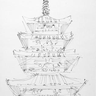 40. The Pagoda at Horyuji 6-24-06