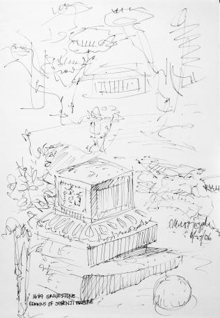 57. 1689 Gravestone Remains of Jegenzi Temple 6-27-06