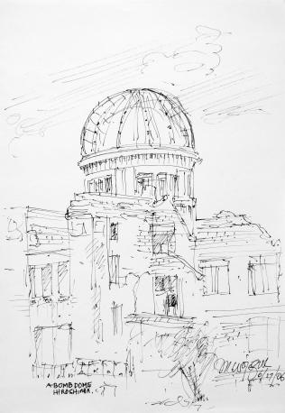 59. A-Bomb Dome Hiroshima 6-27-06