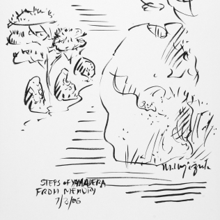 85. Steps of Yamadera from Memory 7-03-06