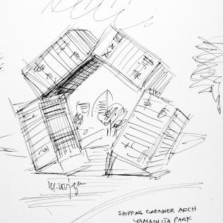 94. Shipping Container Arch Yamashita Park 7-6-06