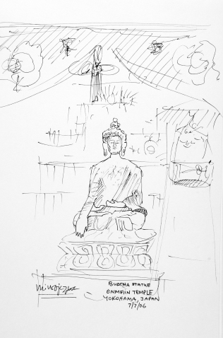 98. Buddha Statue Enmeiin Temple Yokohama, Japan 7-7-06