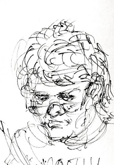 Gregory Corso sketch