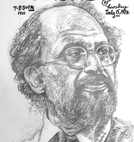 Allen Ginsberg drawing