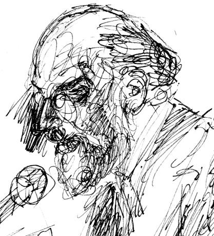 Allen Ginsberg Sketch